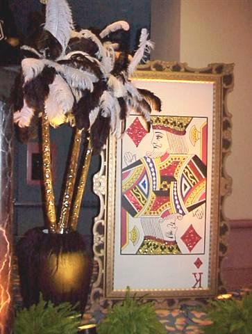 Casino--Giant Playing Card with Feather Palms