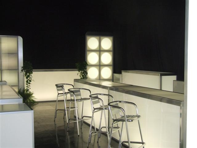 Glow bars, tables, risers & walls