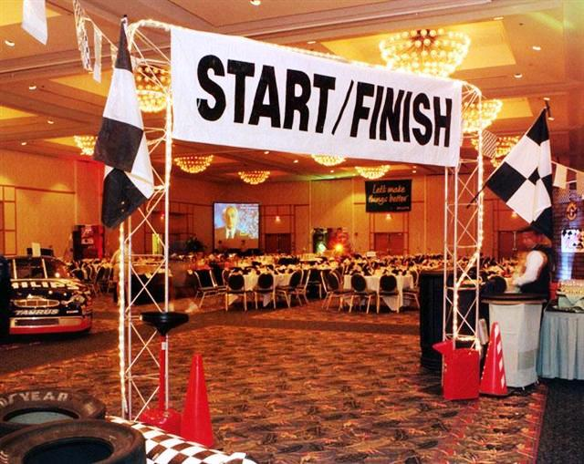 Race--Finish Line Entrance Overview