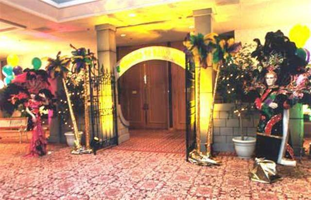 Mardi Gras--Stone Gate Entrance