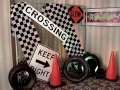 Race--Street Signs, Cones & Tires