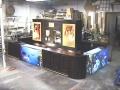 360 aquarium mahogany bar